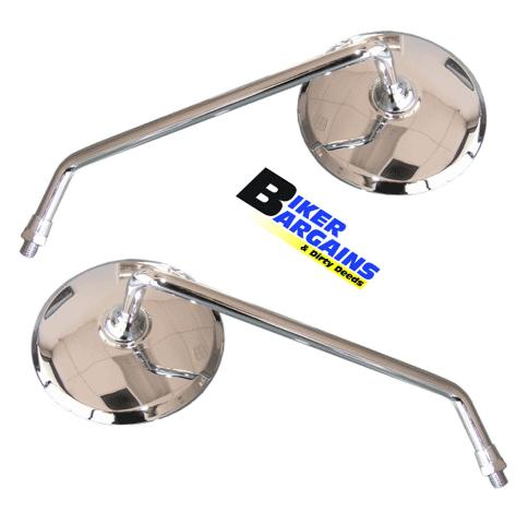 MIRRORS ROUND CHROME CB