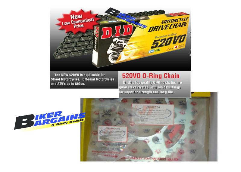 CHAIN & SPROCKET KIT DID 520V CRF250 13/50
