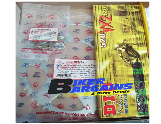 CHAIN & SPROCKET KIT DID 520VX JT CRF450 13/50