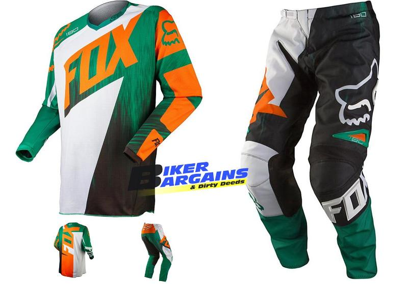 FOX KIDS SET VANDAL SIZE 5 ORANGE GREEN