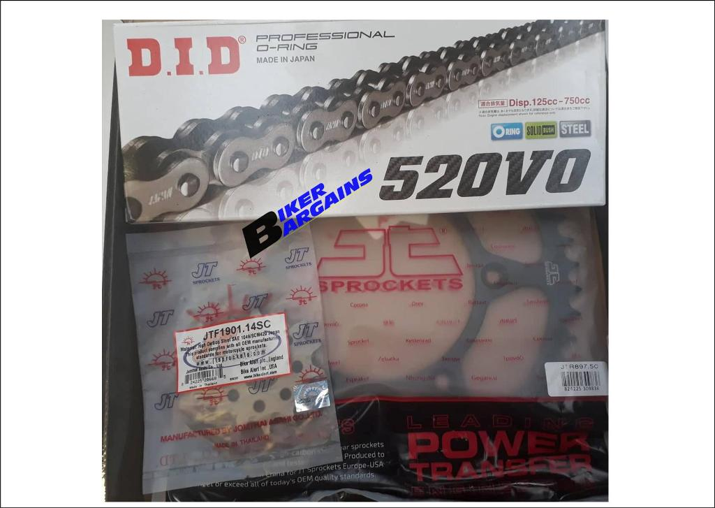 CHAIN & SPROCKET KIT DID/JT KTM 14/50 ORING