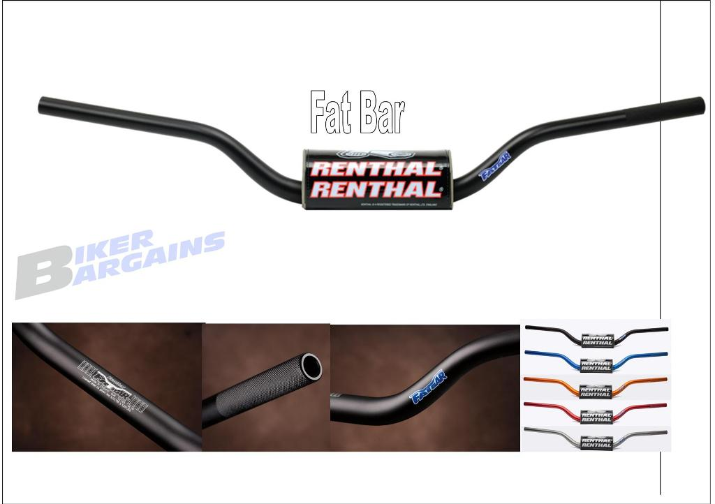 RENTHAL FAT BAR 604 RC/CRF/KXF
