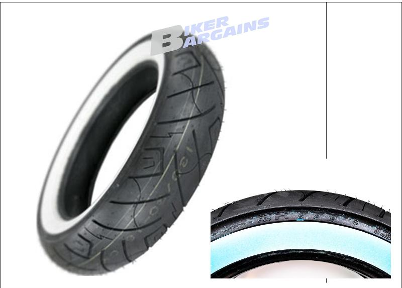 SHINKO WHITE WALL TYRE 130/90-16 REAR